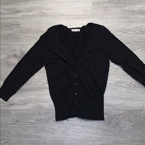 Tops - Black button up cardigan( fits like a S/M)